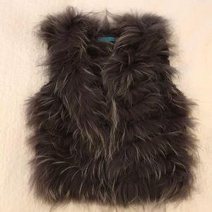 Alice + Olivia 100% real fur vest